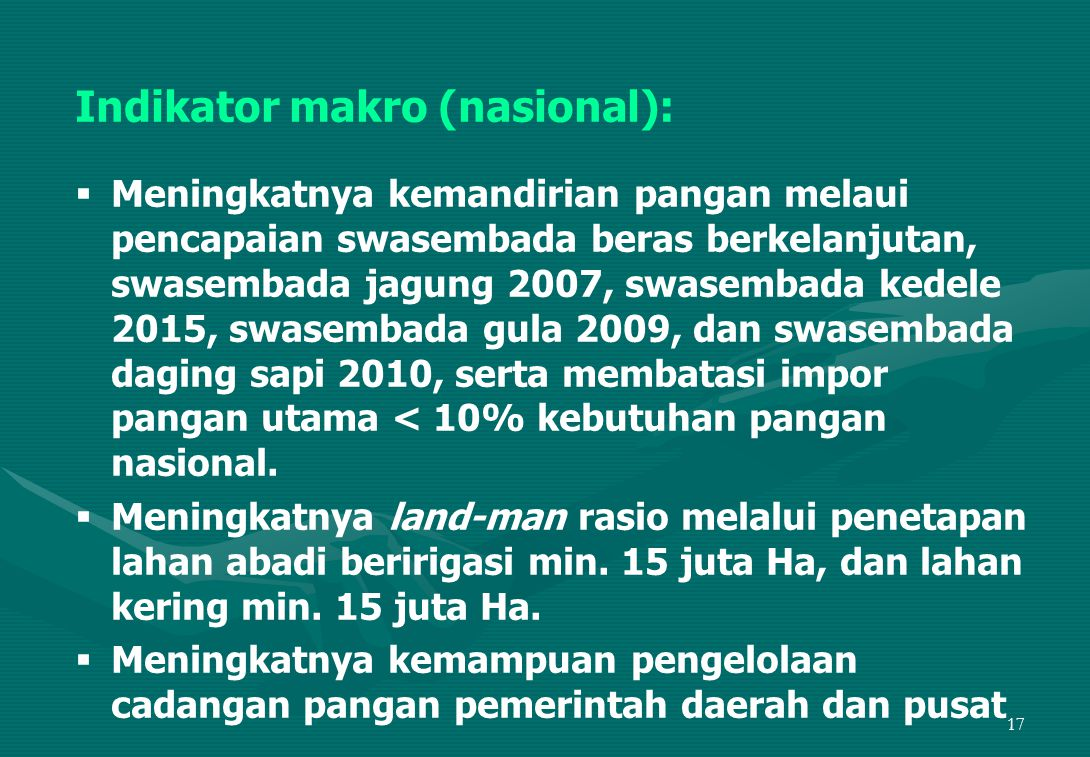 Indikator makro (nasional):