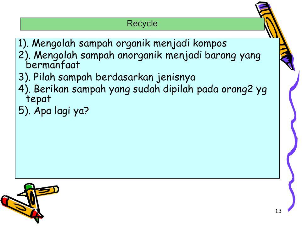 1). Mengolah sampah organik menjadi kompos
