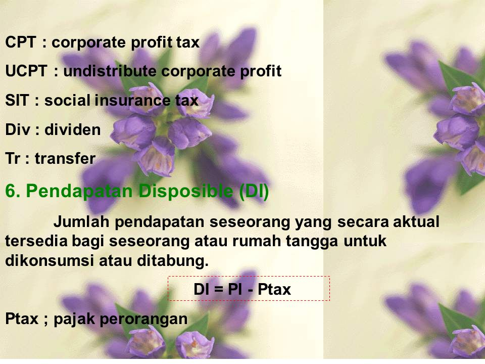 6. Pendapatan Disposible (DI)