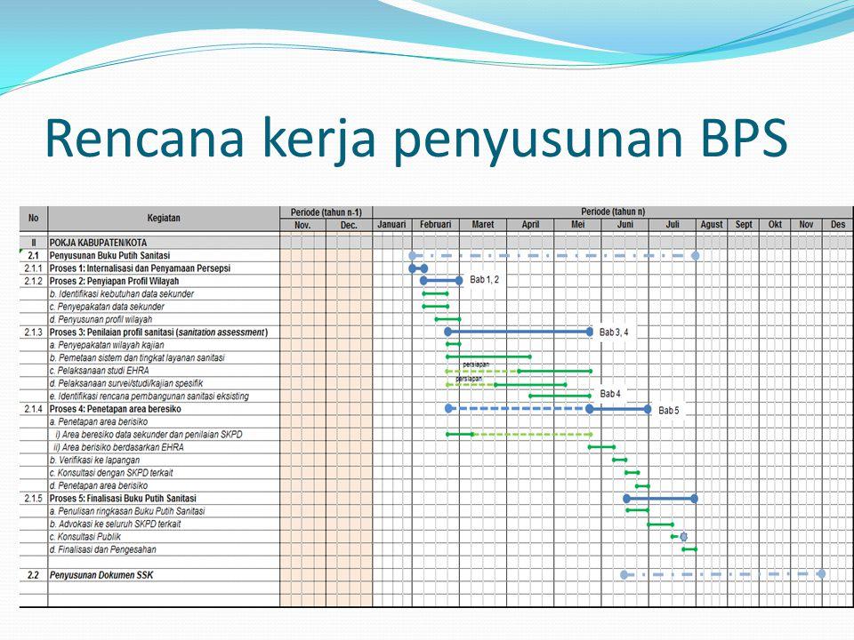 Rencana kerja penyusunan BPS