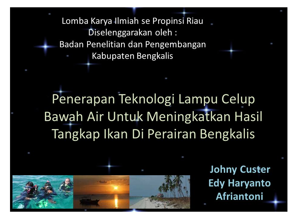 Lomba Karya Ilmiah se Propinsi Riau
