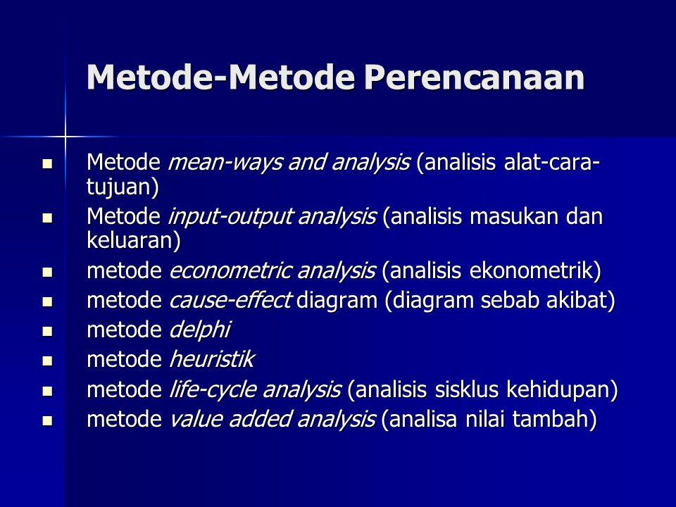 Metode-Metode Perencanaan