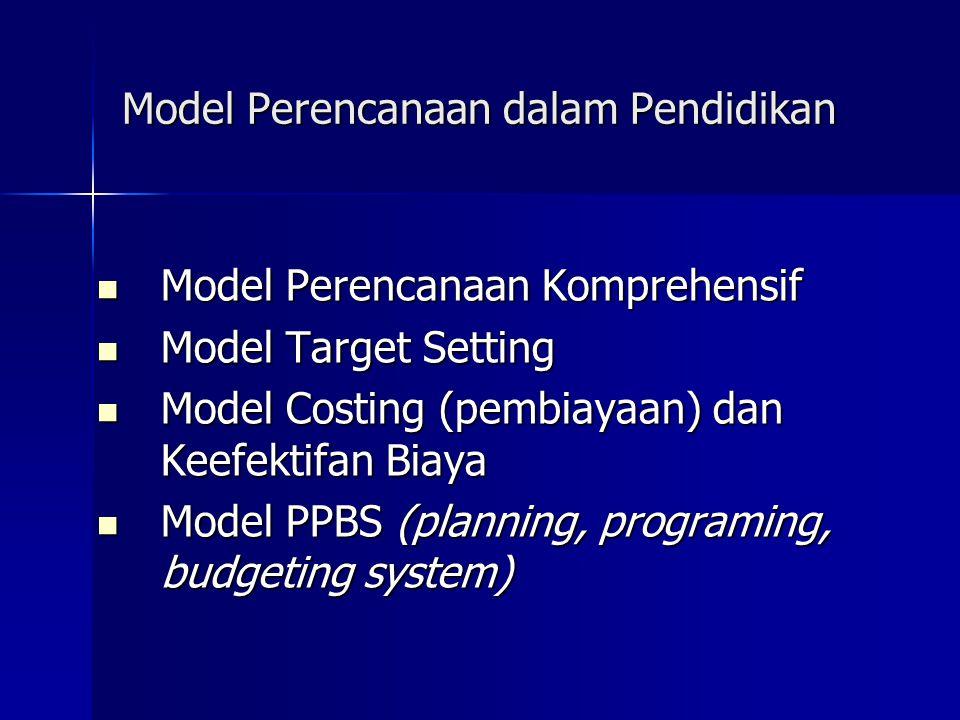 Model Perencanaan dalam Pendidikan