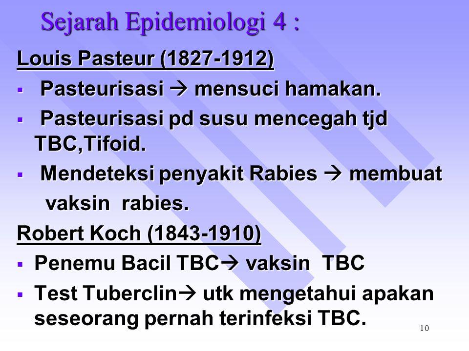 Sejarah Epidemiologi 4 :