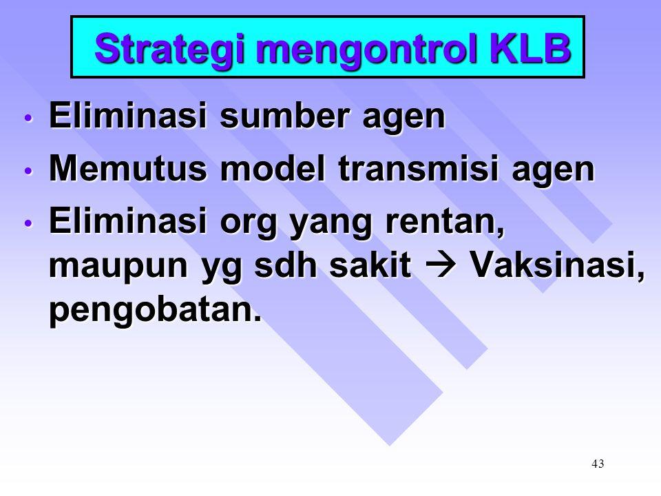Strategi mengontrol KLB