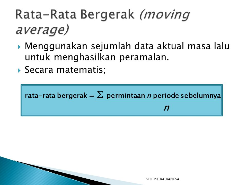 Rata-Rata Bergerak (moving average)