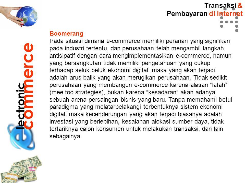 commerce lectronic Transaksi & Pembayaran di Internet Boomerang