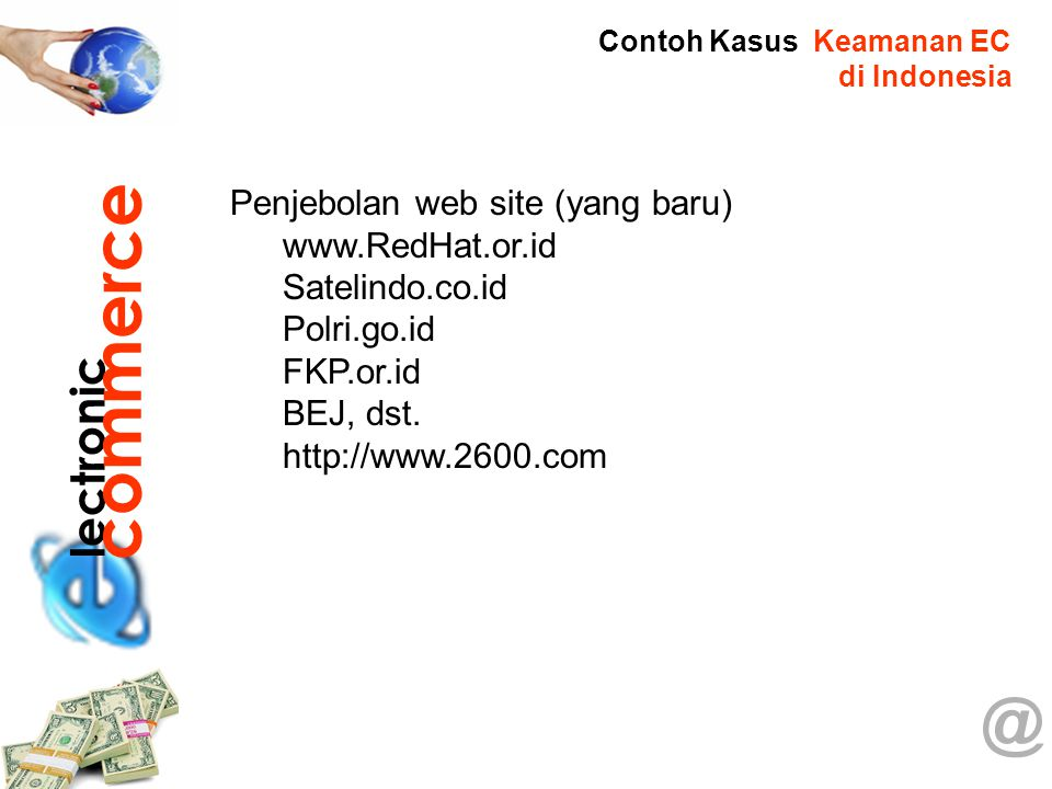 commerce @ lectronic Penjebolan web site (yang baru) www.RedHat.or.id