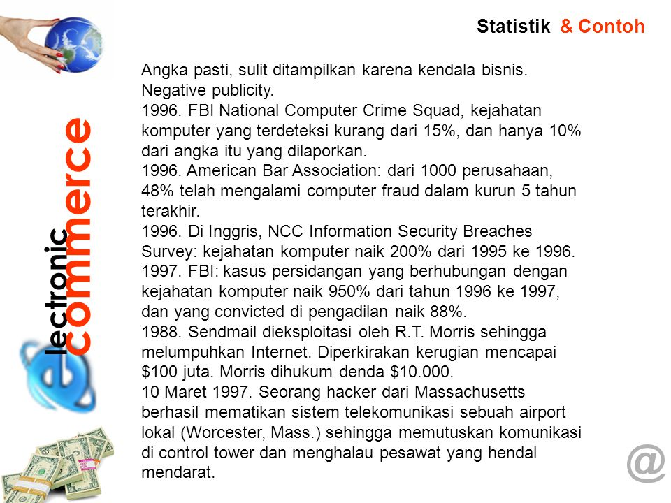 commerce @ lectronic Statistik & Contoh