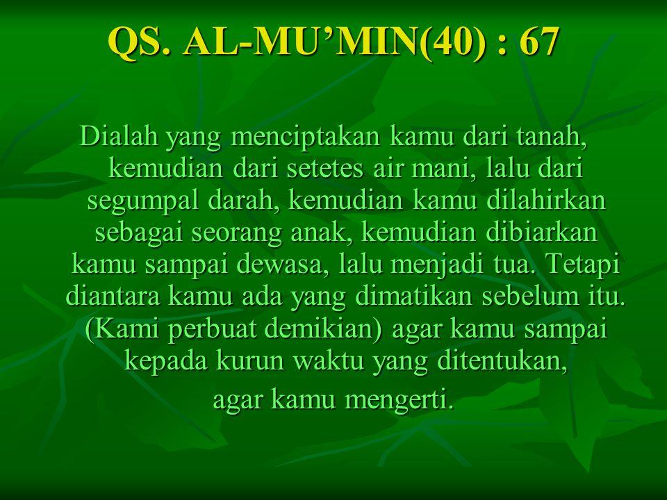 QS. AL-MU'MIN(40) : 67