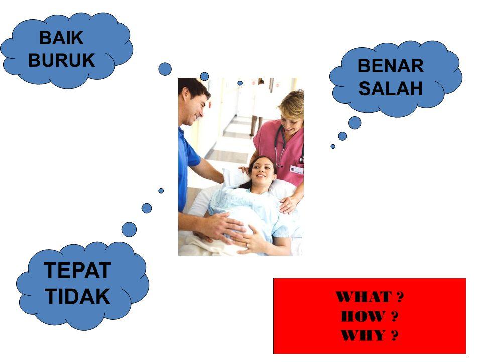 BAIK BURUK BENAR SALAH TEPAT TIDAK WHAT HOW WHY