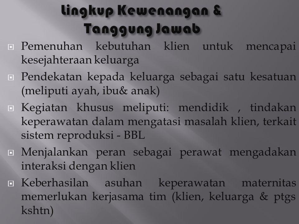 Lingkup Kewenangan & Tanggung Jawab