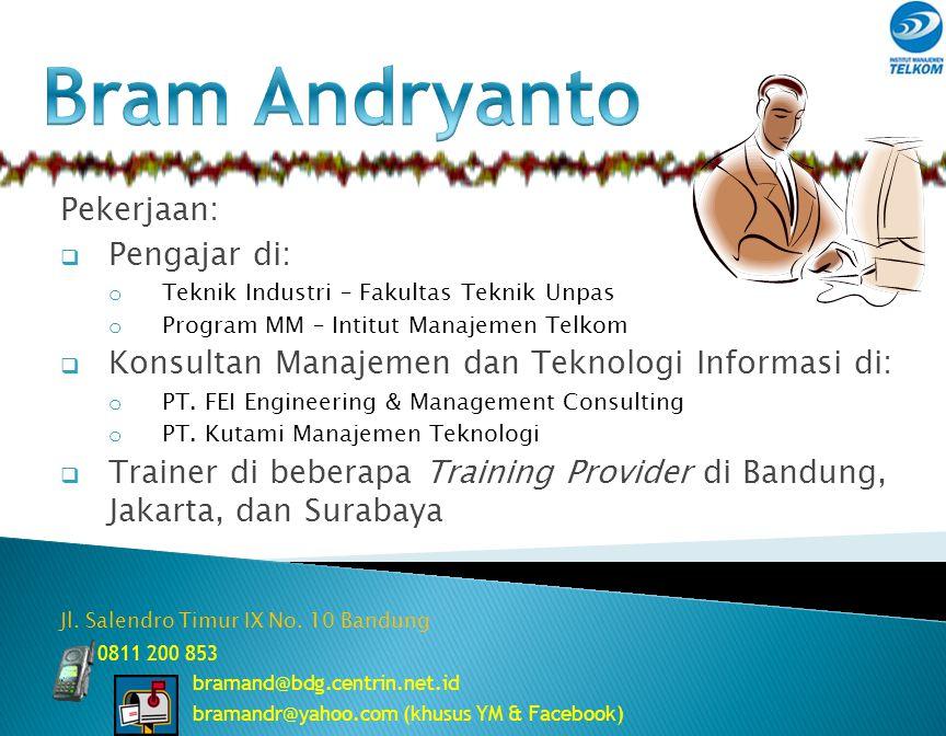 Bram Andryanto Pekerjaan: Pengajar di: