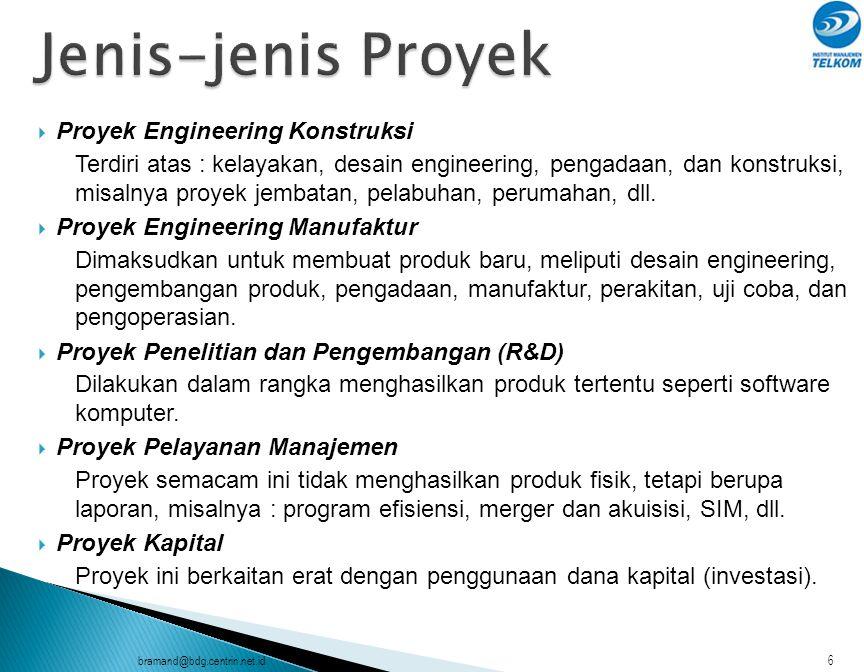 Jenis-jenis Proyek Proyek Engineering Konstruksi