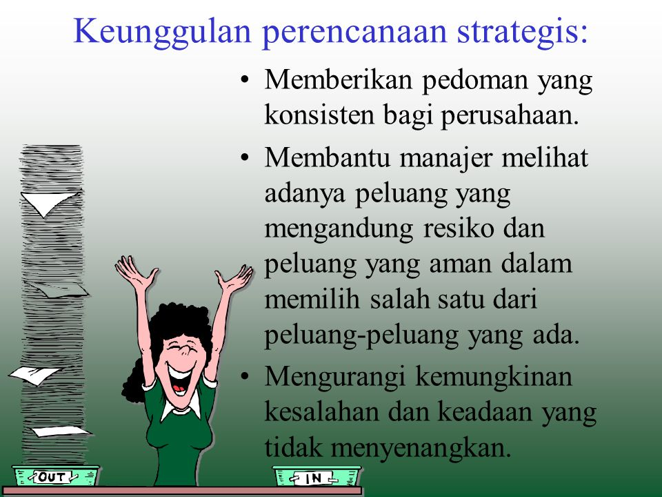 Keunggulan perencanaan strategis: