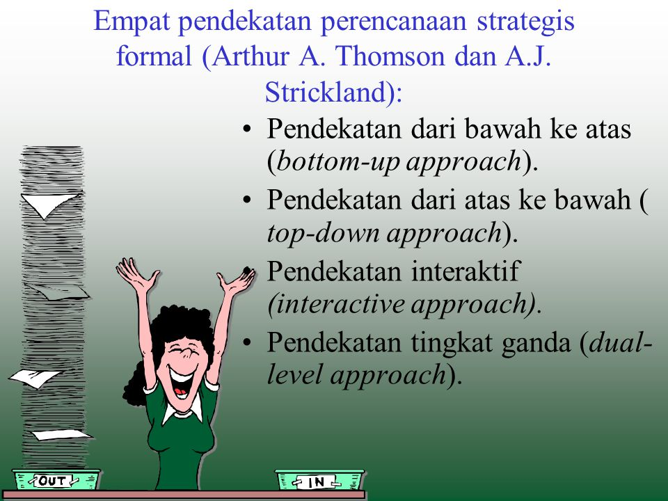 Empat pendekatan perencanaan strategis formal (Arthur A. Thomson dan A