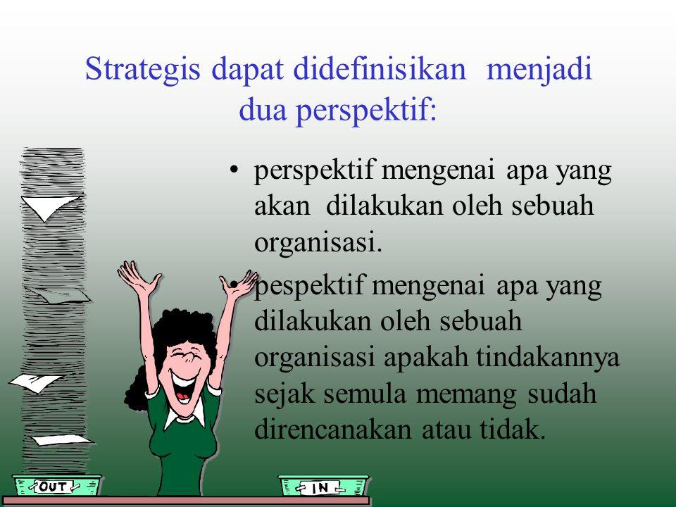 Strategis dapat didefinisikan menjadi dua perspektif: