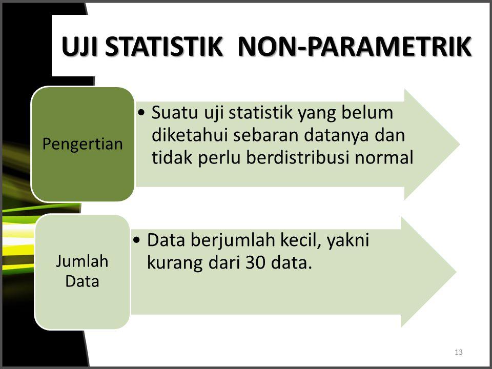 UJI STATISTIK NON-PARAMETRIK