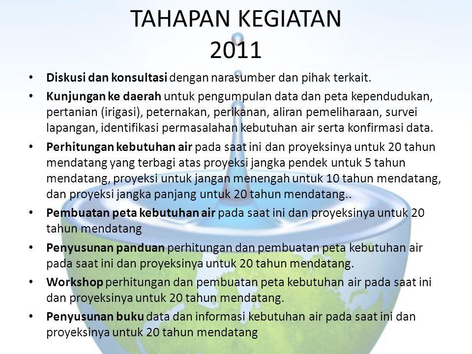 TAHAPAN KEGIATAN 2011 Diskusi dan konsultasi dengan narasumber dan pihak terkait.