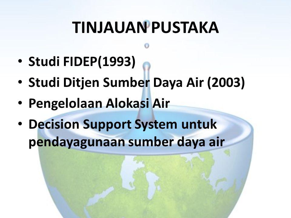 TINJAUAN PUSTAKA Studi FIDEP(1993) Studi Ditjen Sumber Daya Air (2003)
