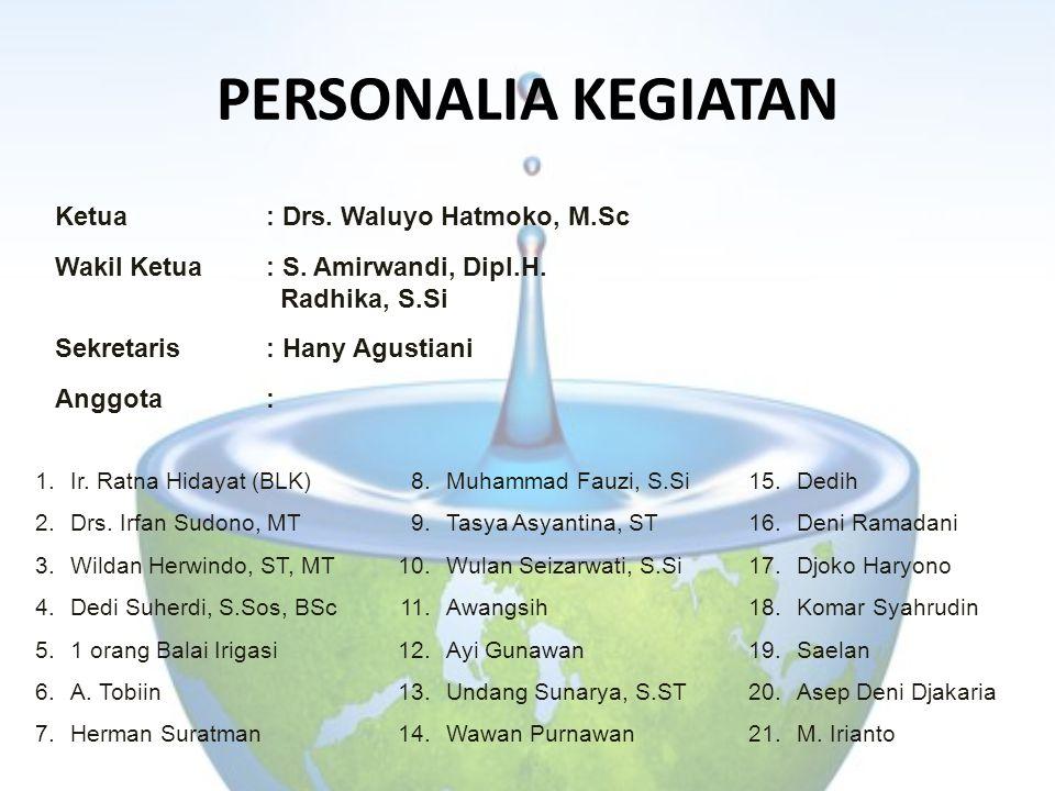 PERSONALIA KEGIATAN Ketua : Drs. Waluyo Hatmoko, M.Sc