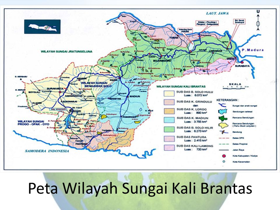 Peta Wilayah Sungai Kali Brantas