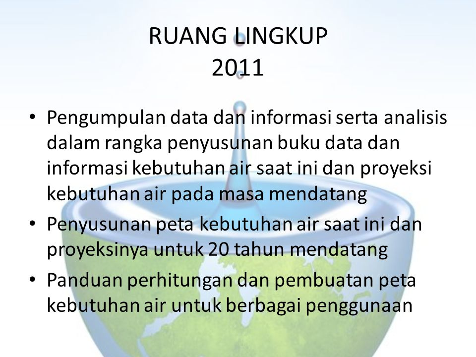 RUANG LINGKUP 2011