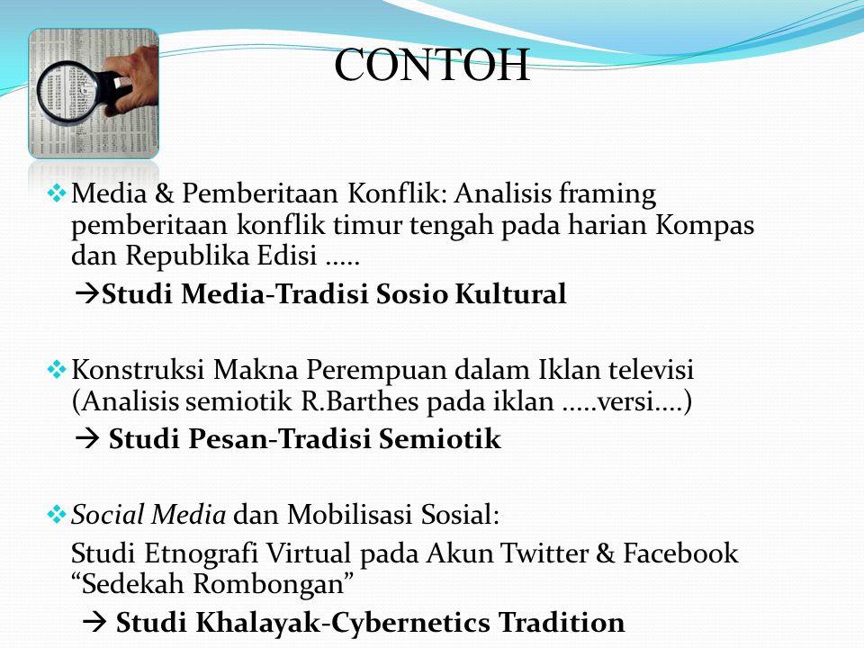 CONTOH Media & Pemberitaan Konflik: Analisis framing pemberitaan konflik timur tengah pada harian Kompas dan Republika Edisi .....