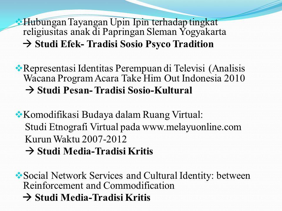 Hubungan Tayangan Upin Ipin terhadap tingkat religiusitas anak di Papringan Sleman Yogyakarta