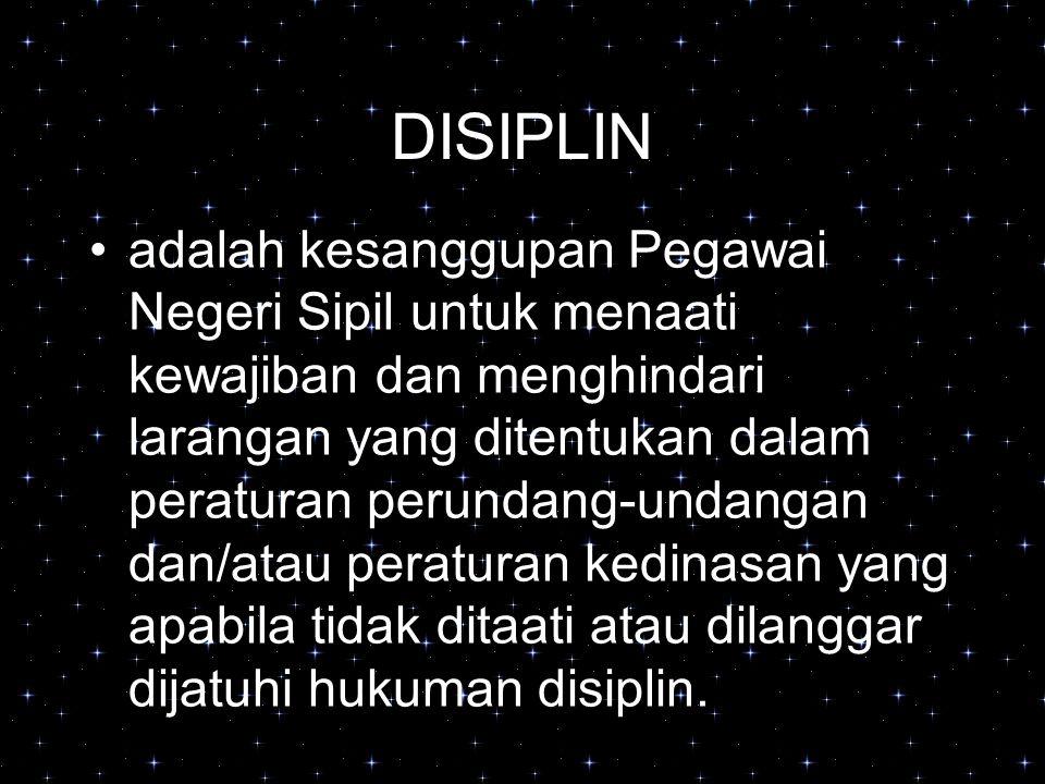 DISIPLIN