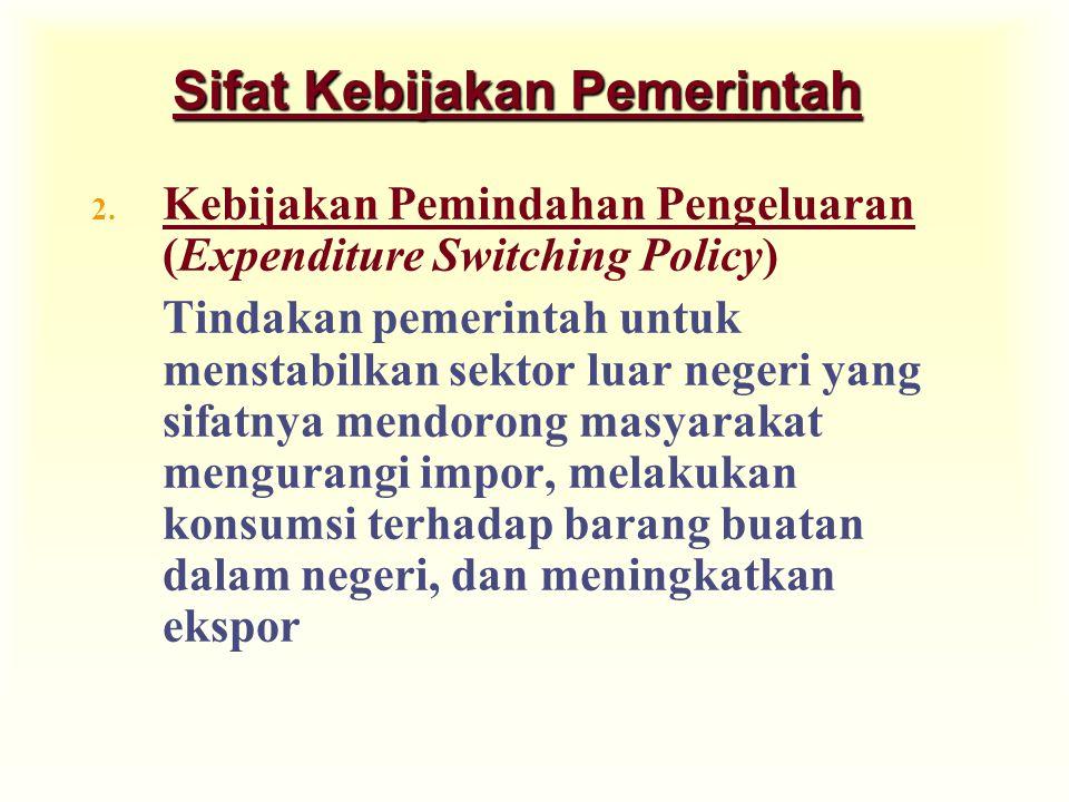 Sifat Kebijakan Pemerintah
