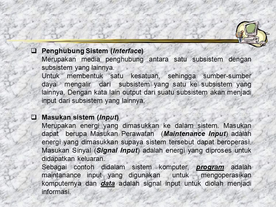 Penghubung Sistem (Interface)