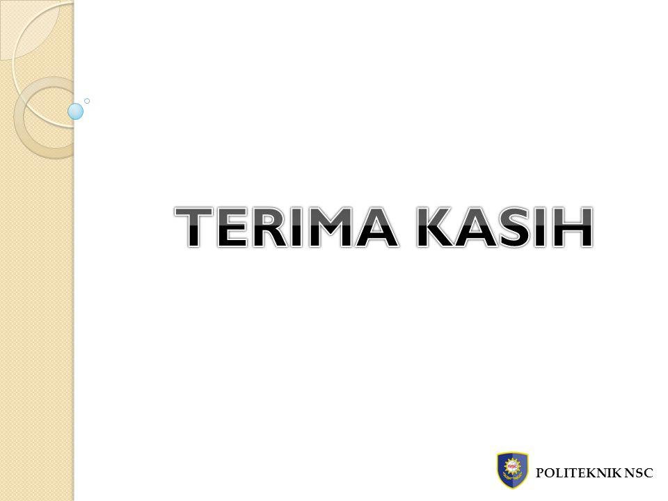 TERIMA KASIH POLITEKNIK NSC