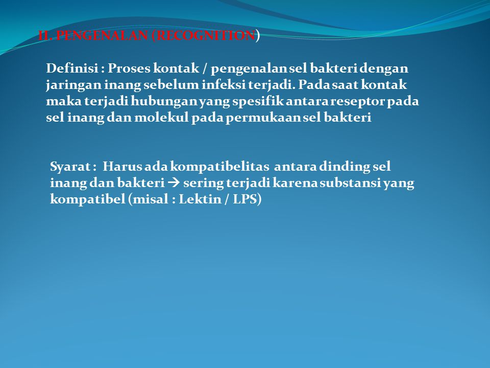 II. PENGENALAN (RECOGNITION)