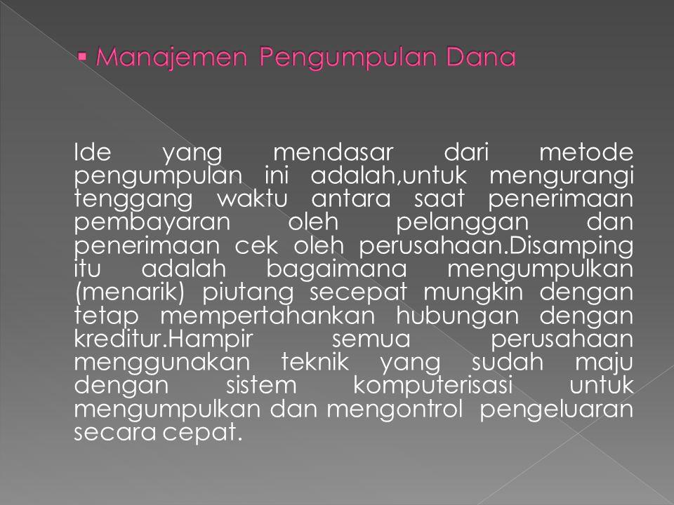 Manajemen Pengumpulan Dana