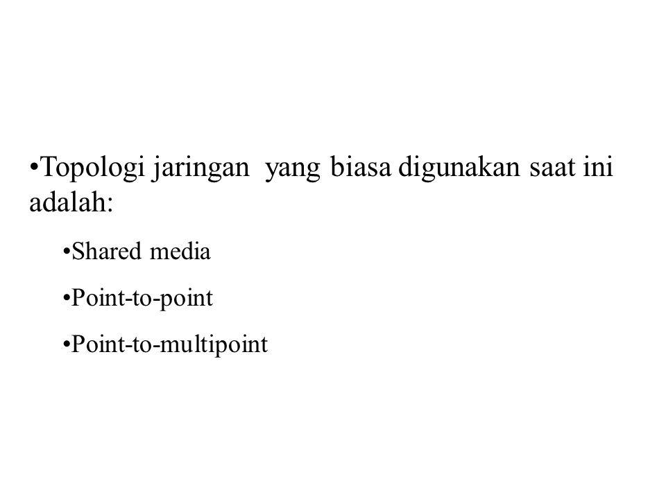 Topologi jaringan yang biasa digunakan saat ini adalah: