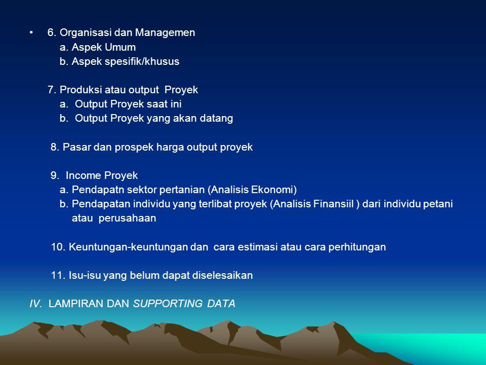 6. Organisasi dan Managemen