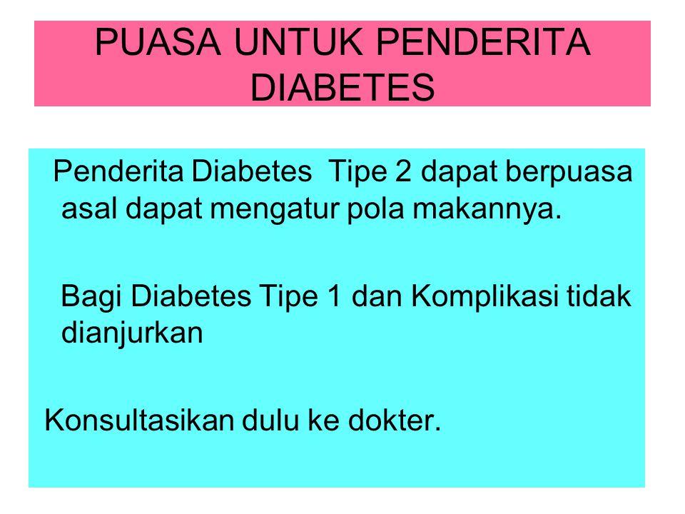 PUASA UNTUK PENDERITA DIABETES