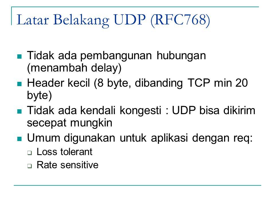 Latar Belakang UDP (RFC768)