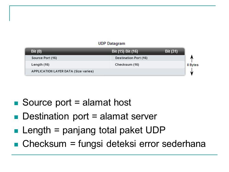 Source port = alamat host