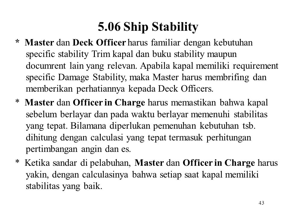 5.06 Ship Stability