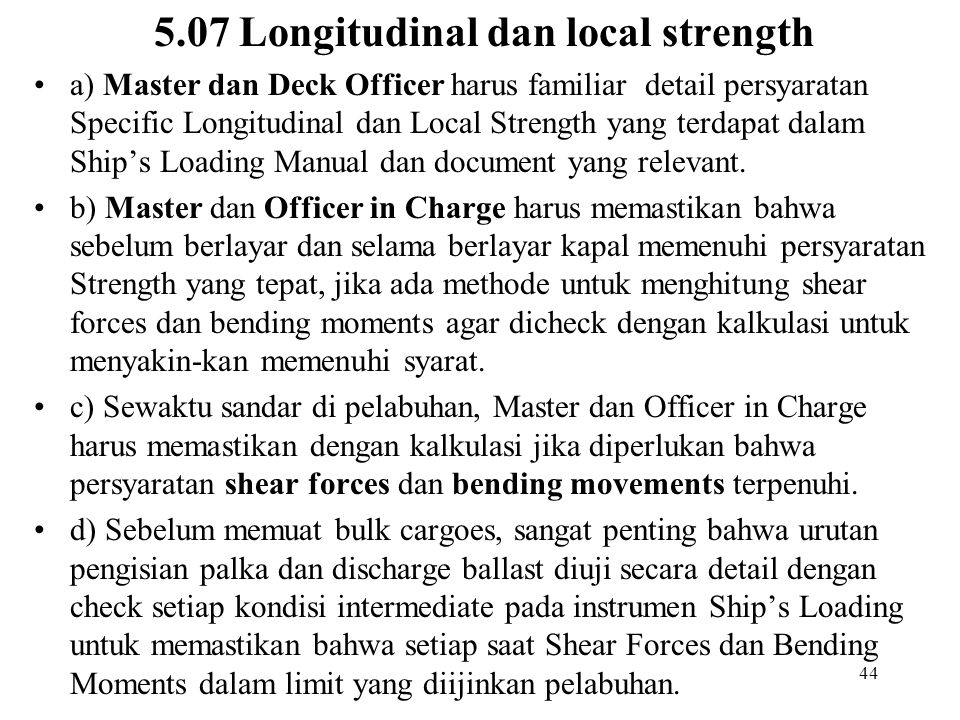 5.07 Longitudinal dan local strength