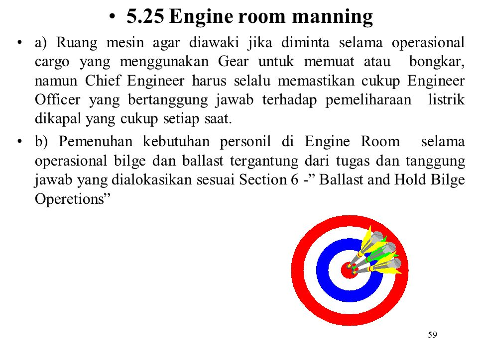 5.25 Engine room manning
