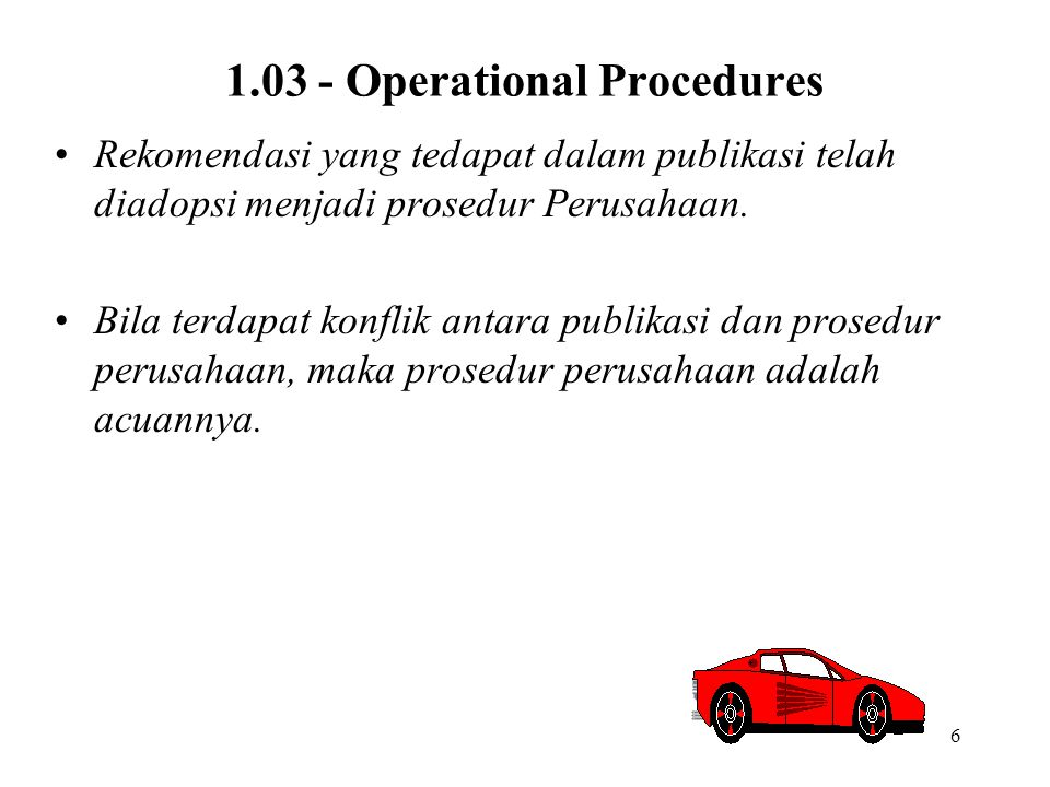 1.03 - Operational Procedures