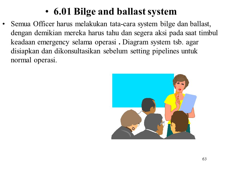6.01 Bilge and ballast system
