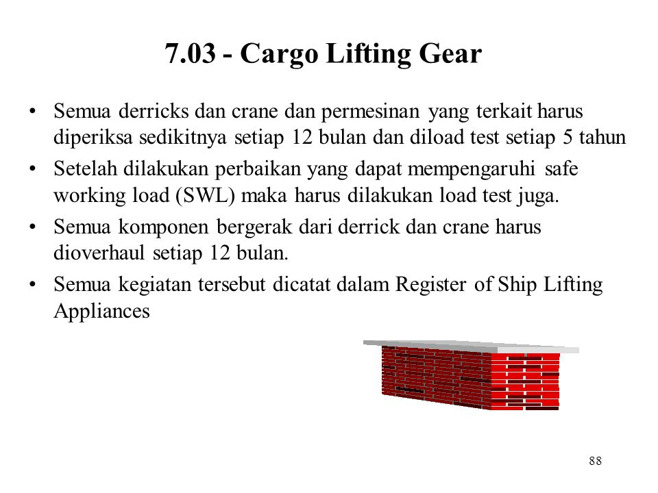 7.03 - Cargo Lifting Gear