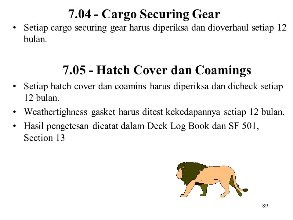 7.05 - Hatch Cover dan Coamings