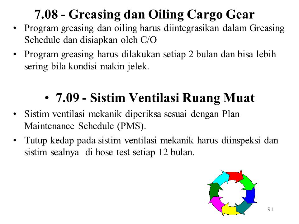 7.08 - Greasing dan Oiling Cargo Gear