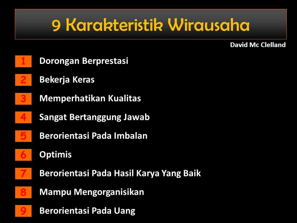9 Karakteristik Wirausaha