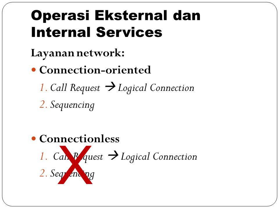 Operasi Eksternal dan Internal Services